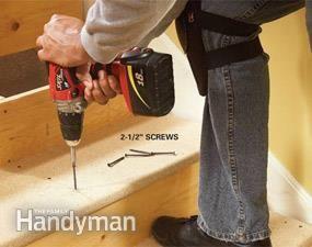 Best How To Repair Squeaky Stairs Repair Fix Squeaky Floors 400 x 300