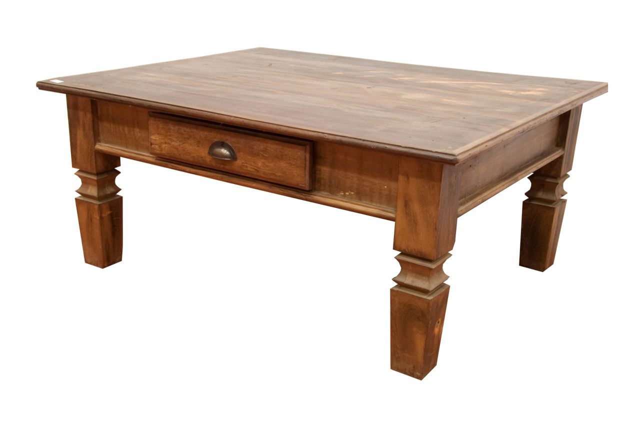 Coffee Table Real Demolition Wood 100% Brazil