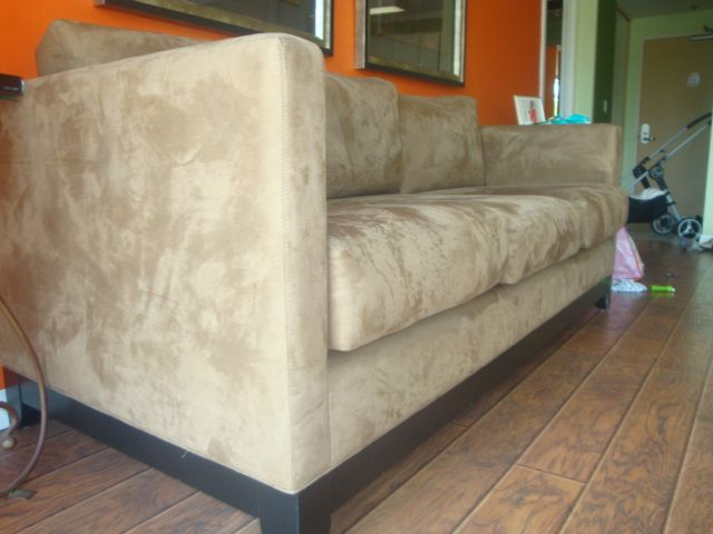 Ultra Suede Couch.