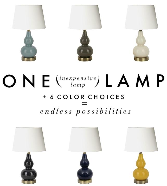 One Inexpensive Lamp, Six Ways Mercury glass lamp