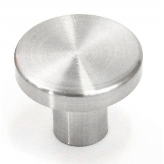Ale 1 Inch Cabinet Pull Knob Brushed Nickel Finish MVW on Bathroom