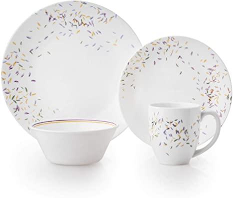 Amazon Com Corelle Autumn Dance Chip Break Resistant 16pc Dinner Set Service For 4 Vitrelle Glass Dinnerware Storage Corelle Dinnerware Glass Dinnerware