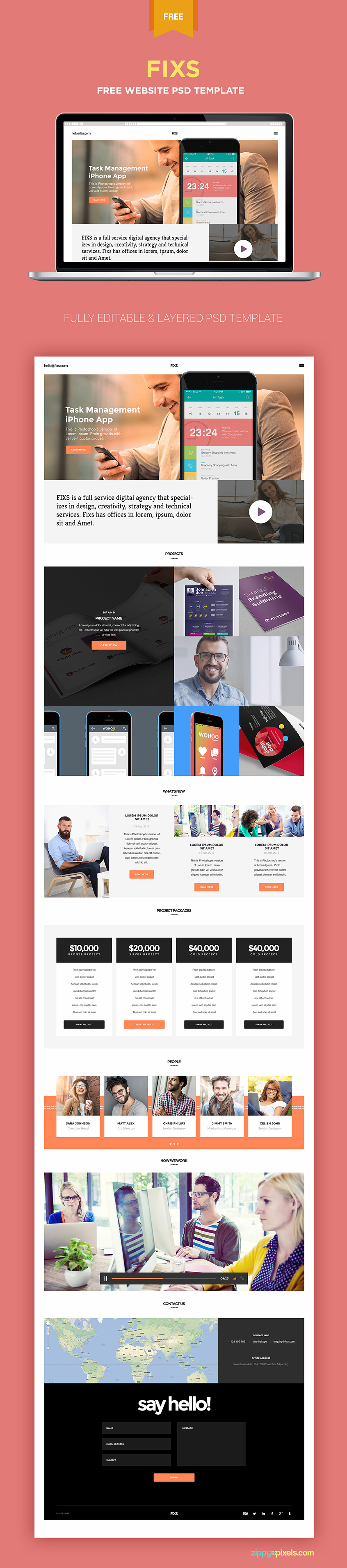 make beautiful websites and presentations with this free single, Presentation templates