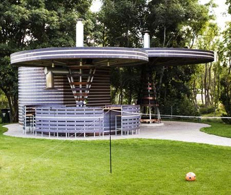 Pavilion possible to reuse a grain bin favorite places spaces pinterest reuse for How to build a grain bin swimming pool