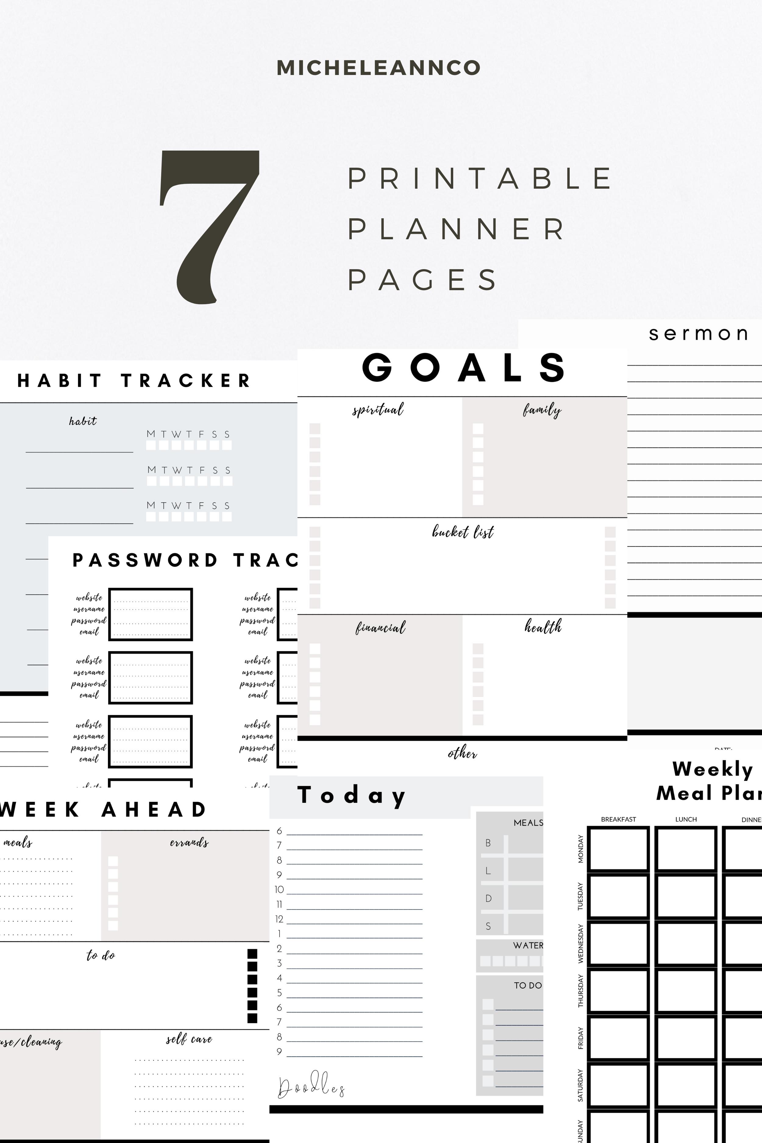 Printable Lifestyle Planner Kit In