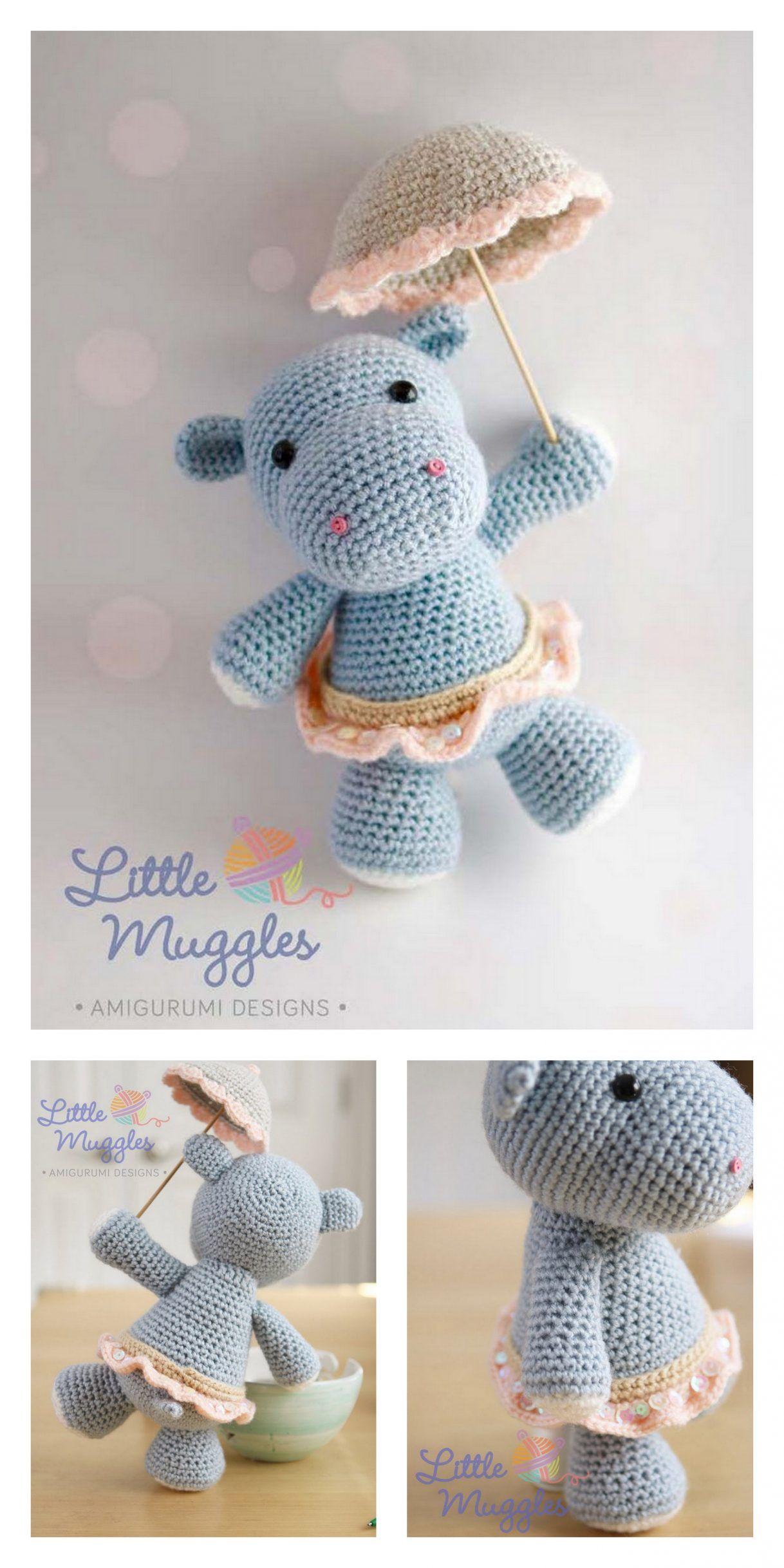 Pink hippo with dress amigurumi pattern (1) - free cross stitch ... | 2436x1218