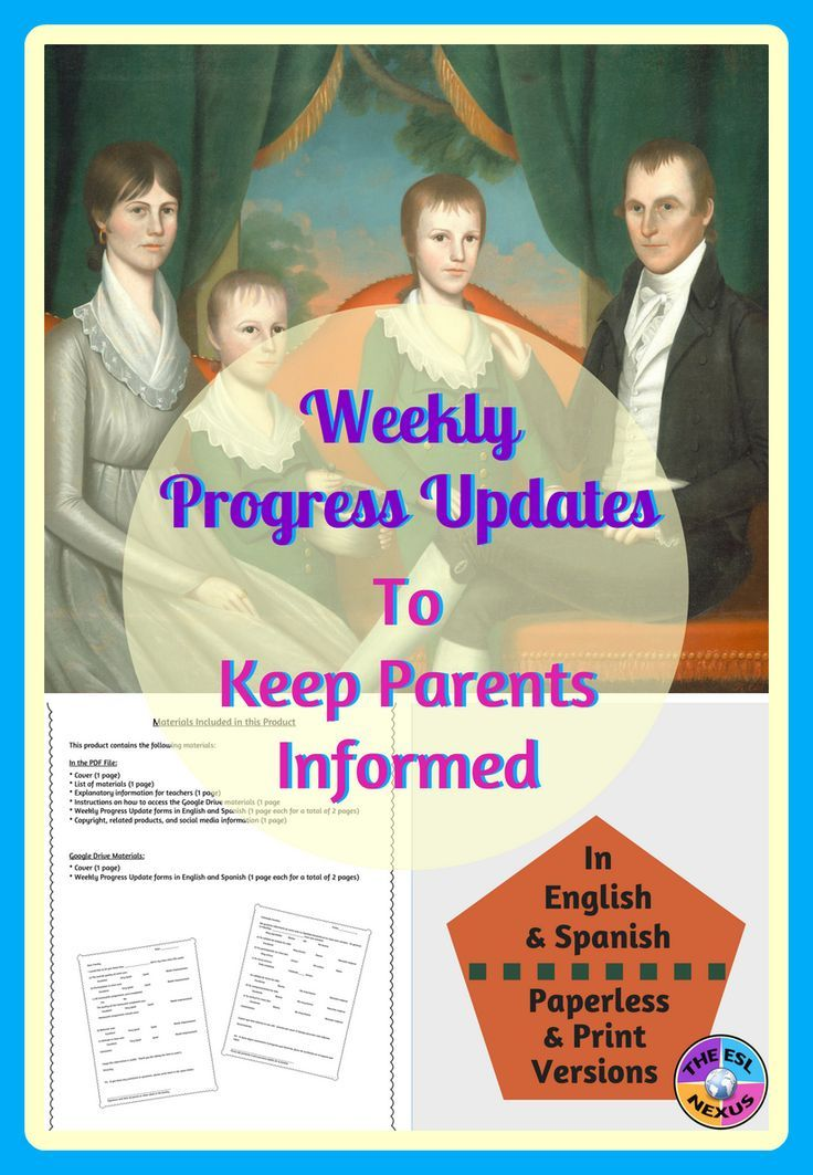 Weekly Progress Report Form in English \ Spanish, Printable - progress report template for students