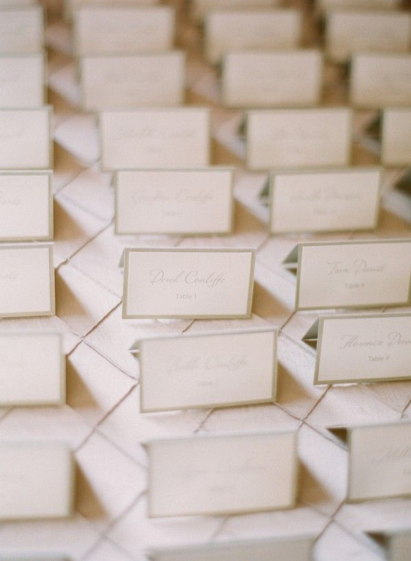 Classic Reception Place Cards | photography by http://www.ariellephoto.com/