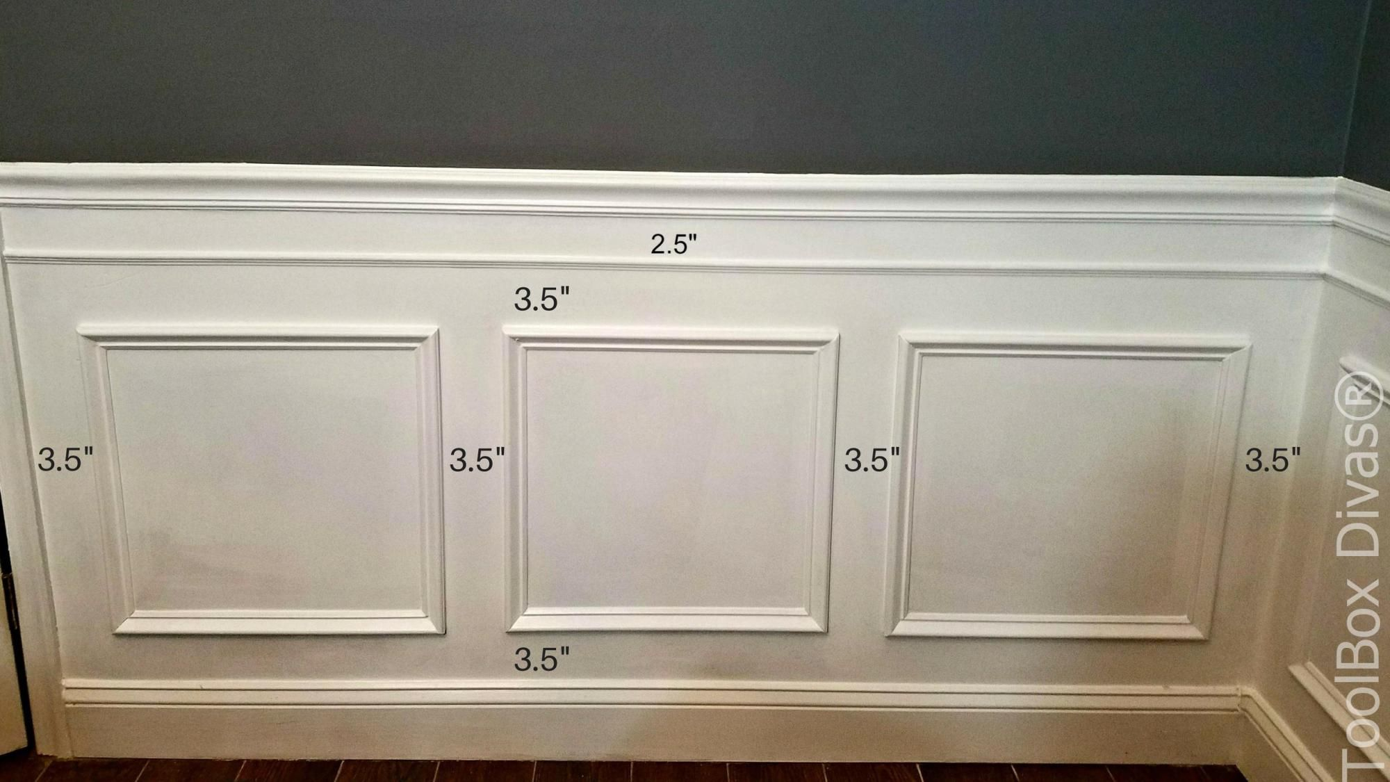 How to Install Picture Frame Moulding Wainscoting | León
