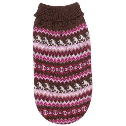 Zack & Zoey Acrylic Fair Isle Knit Dog Sweater, Teacup, P... https ...