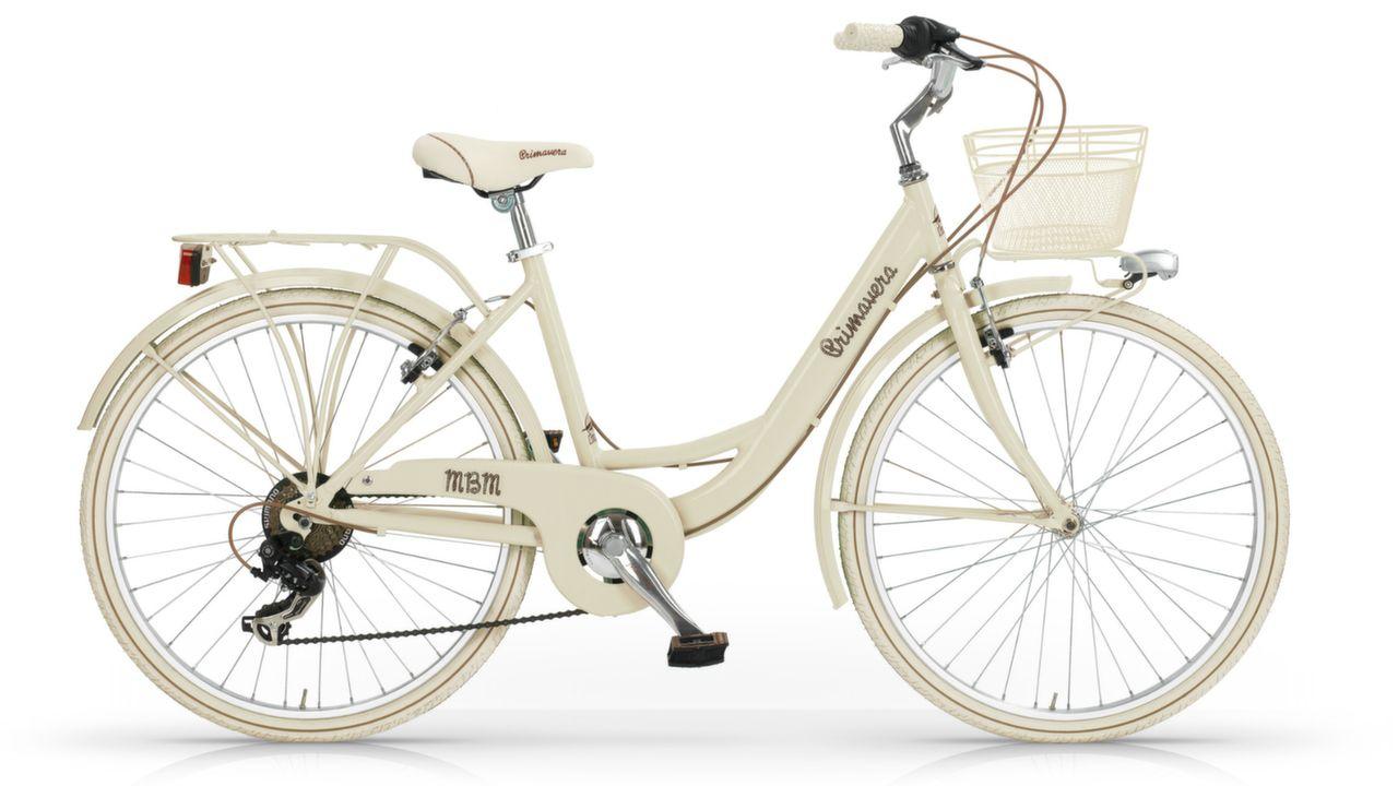 """dámsky retro bicykel MBM Primavera 6SP 26"""" - krémová"""