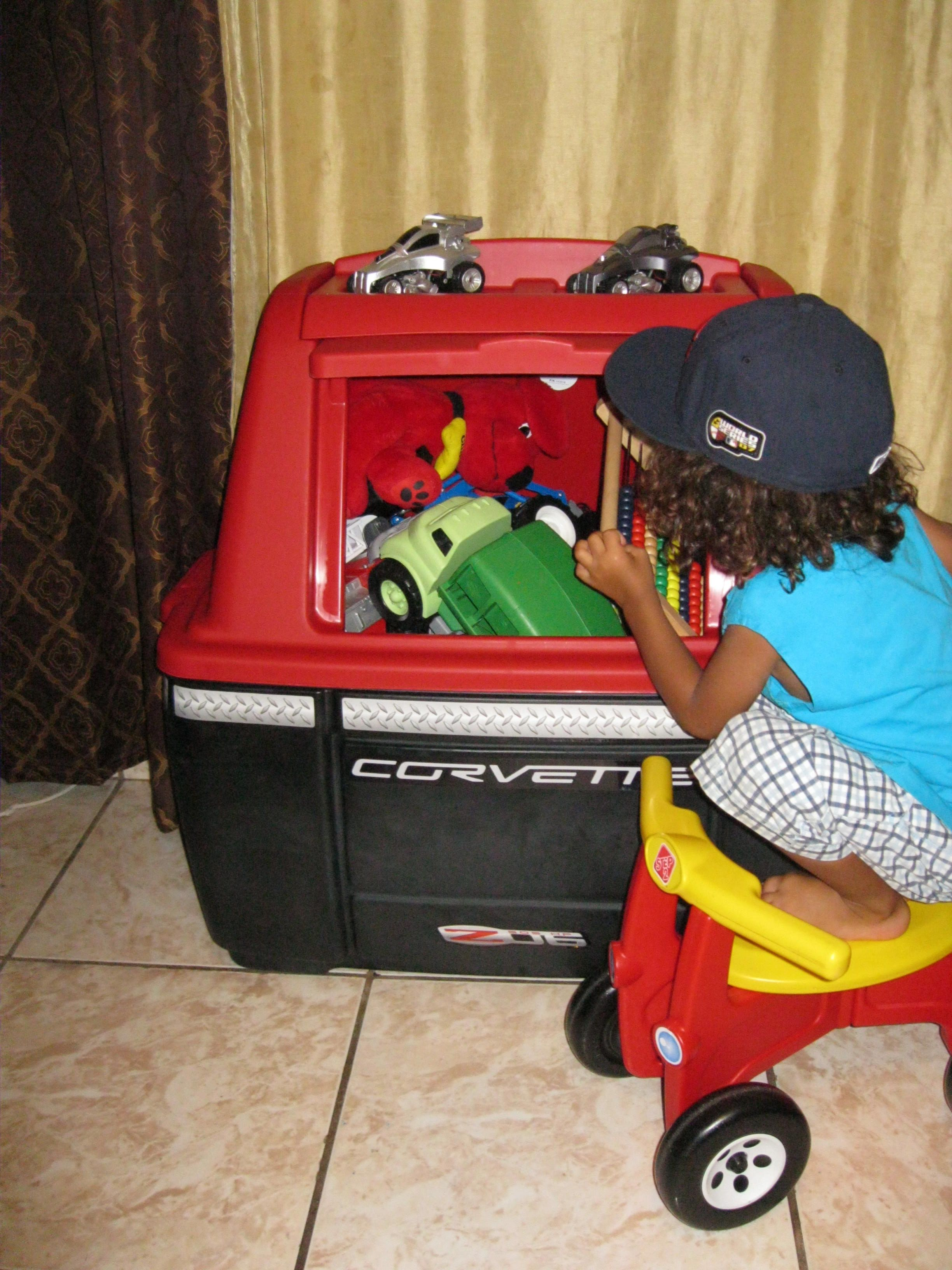 The Step2 Corvette Storage Chest Has Helped Get Toy Clutter Under Control In My Kids Room Love It Car Themed Bedrooms Toy Clutter Step2