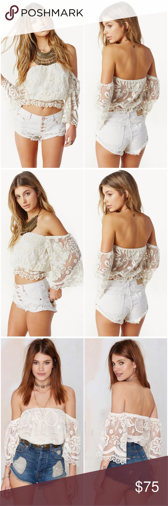 jen's pirate booty lace bell top free people asos nwt | tube tops