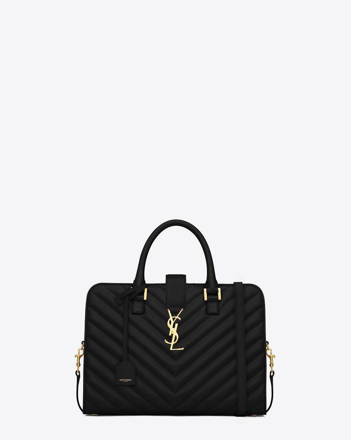 35838894dd ... Bag in Lipstick Red Matelassé Leather. Saint Laurent