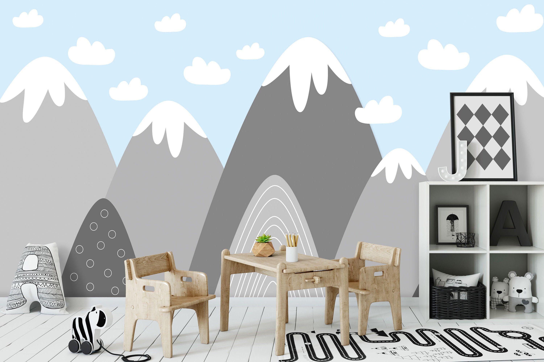 Tapete, Fototapete, Kinderzimmer, Babyzimmer, Gebirge