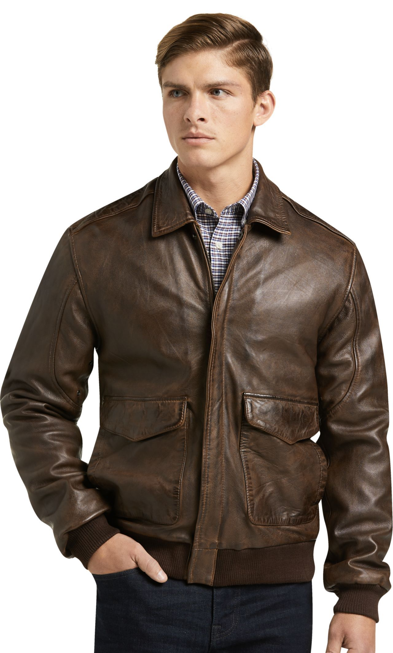 1905 Collection Tailored Fit Leather Bomber Jacket Big Tall All Big Tall Jos A Bank Leather Jacket Men Leather Jacket Leather Bomber [ 2128 x 1280 Pixel ]