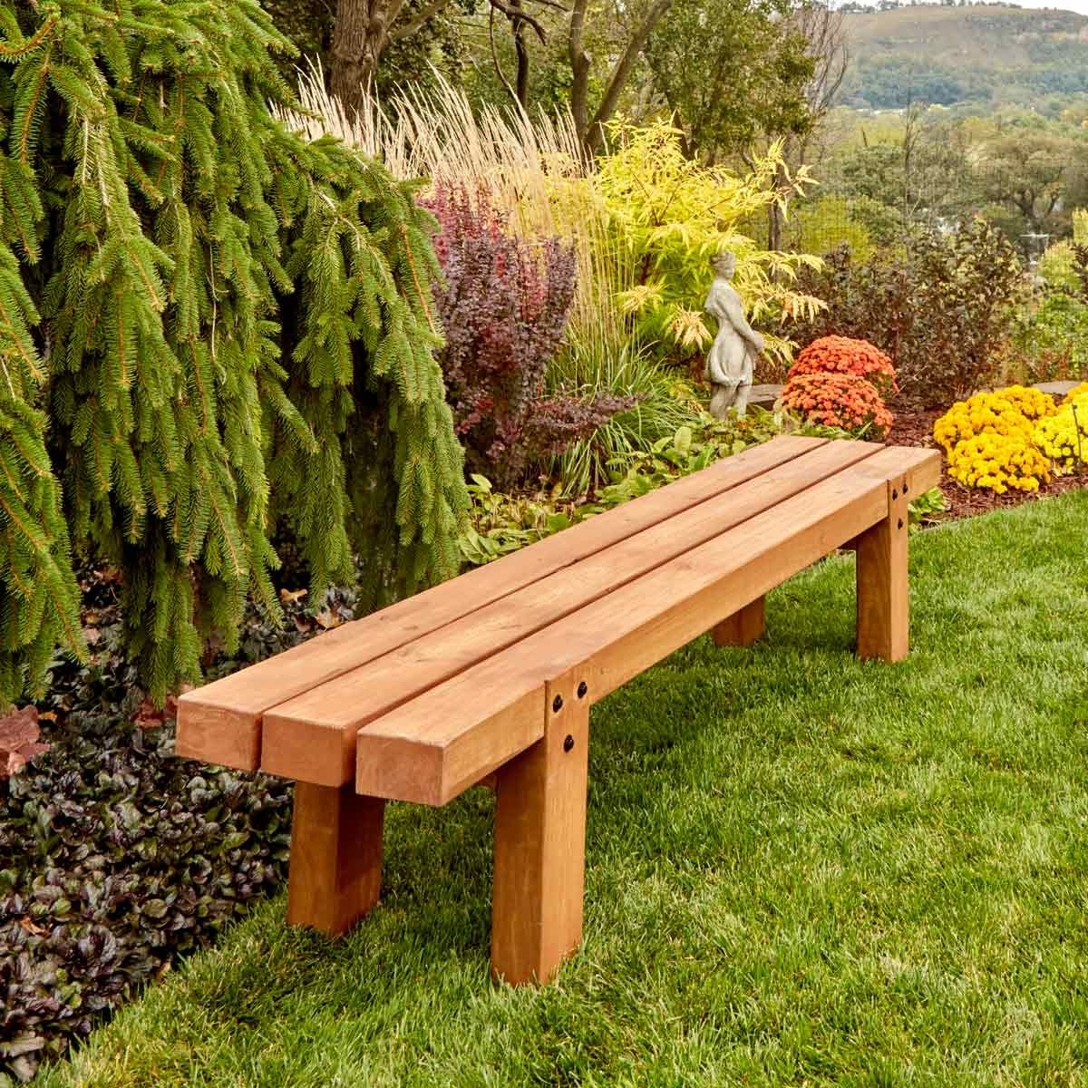 Simple Timber Outdoor Bench Woodworking Projects