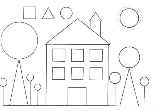 Boyamasayfası Boyama Okulöncesi şekiller Geometrik Sekiller