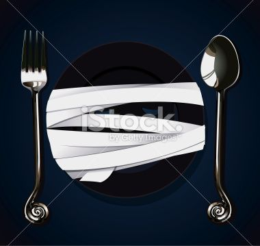 Vector of Halloween Party Mummy Plate Royalty Free Stock Vector Art Illustration