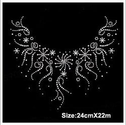 Online Shop Free ship!12pc!Snowflake necklace design hotfix rhinestones heat transfer design iron on motifs spatches, DIY motifs rhinestones|Aliexpress Mobile