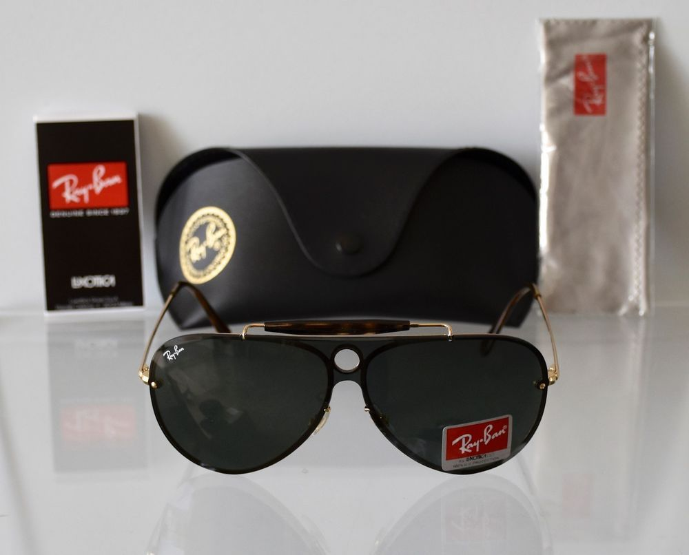 6bb8efa4f6ed NEW RAY-BAN BLAZE SHOOTER RB3581N 001 71 GOLD FRAME GREEN CLASSIC SUNGLASSES   RAYBAN  Pilot