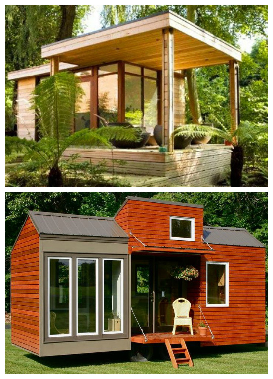 Petite Maison Moderne Et Rustique Tiny Houses Work Spaces In 2018