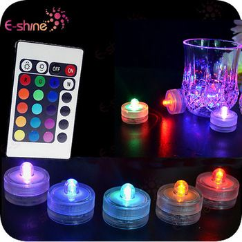 Wedding Decoration Led Battery Operated Remote Control Submersible Light