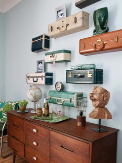 This is neat! decorating with old suitcases. Tutorial & everything!!!