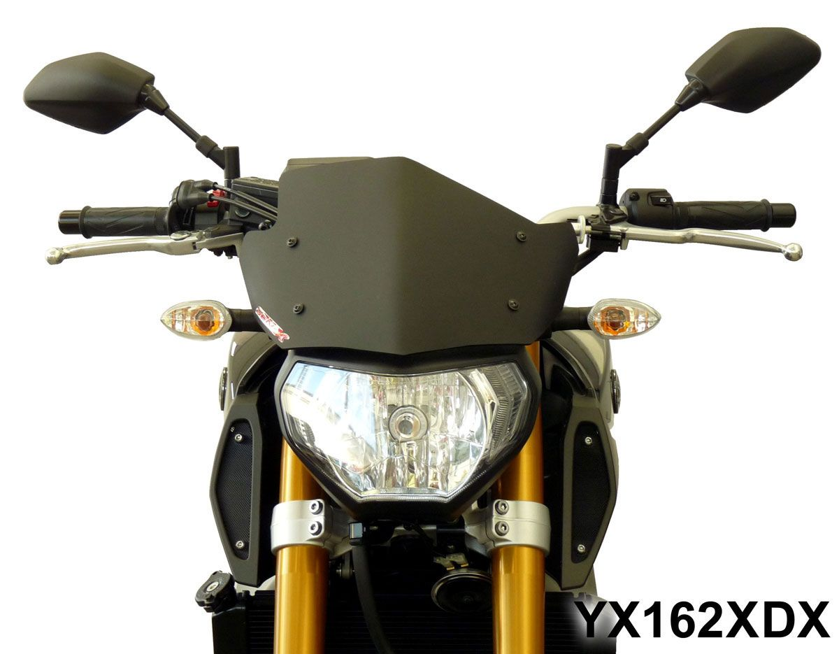 Moto yamaha scrambler cars motorcycles bobber forward mt09 yamaha - Fabbri Gen X Sport Headlight Fairing Screen For Yamaha Mt 09 Fz