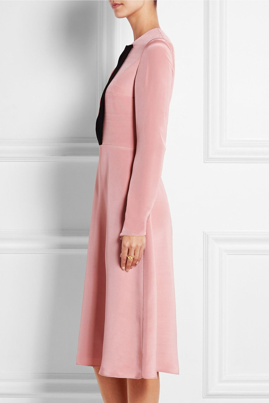 Roksanda|Rhode color-block silk-blend satin dress|NET-A-PORTER.COM