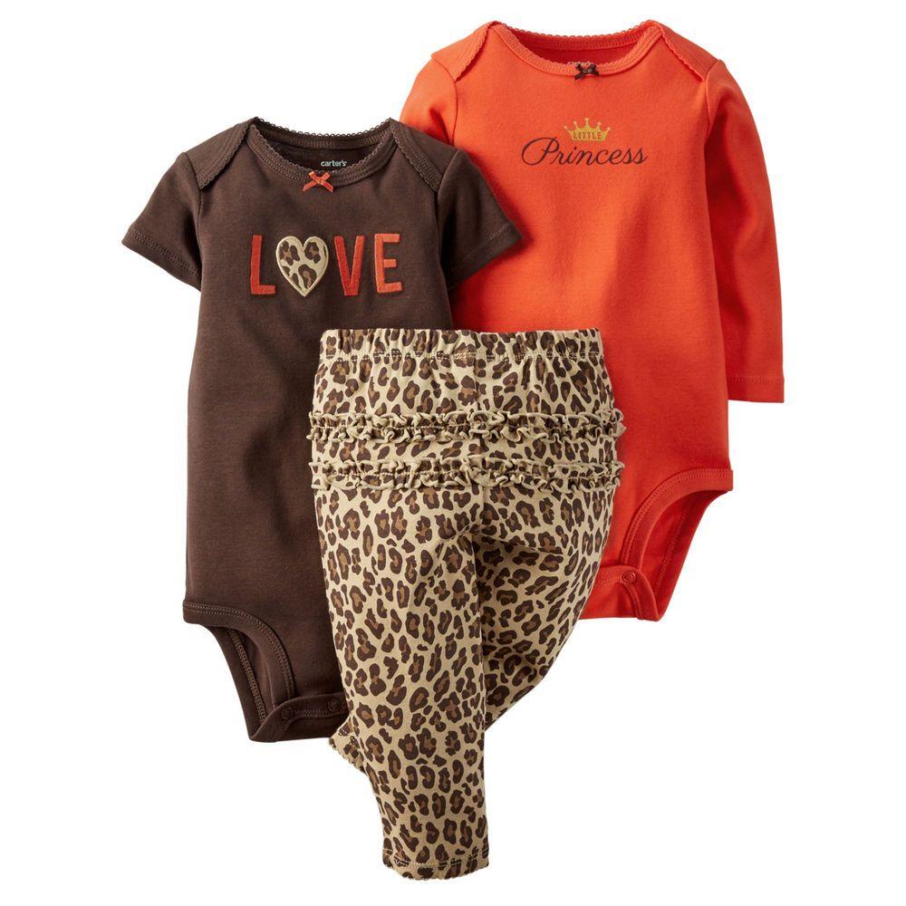 e9618a3a16a6 Carters Newborn 3 6 9 12 18 24 Months Bodysuit Set Baby Girl Clothes  Leopard #Carters #Everyday