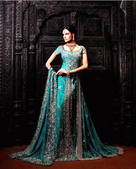 latest designer wedding dresses green lehenga choli dress with latest collection from fashion magazine