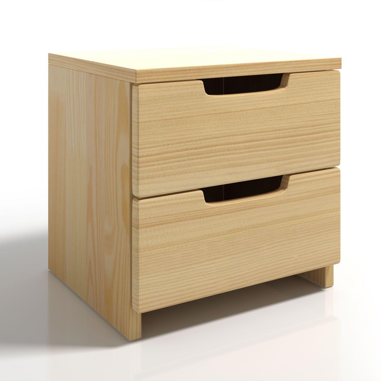 Comodino a 2 cassetti in legno massello dal design scandinavo ...