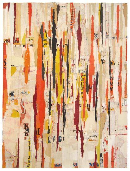 Density – 1 by Lisa Hochstein salvaged paper