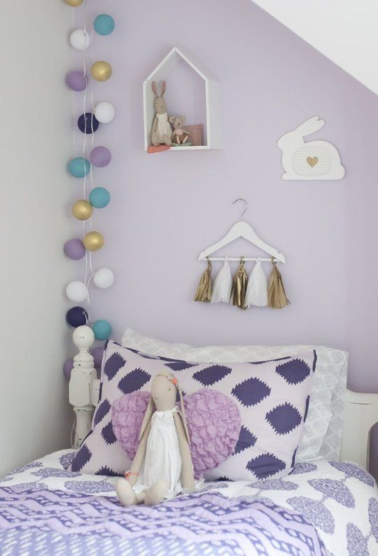 A Young Girls Lavender Bedroom