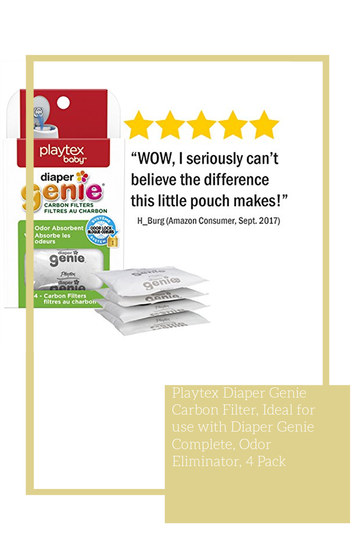 Diaper Carbon Filter Ideal for Use with Diaper Complete Odor Eliminator 4 Pack