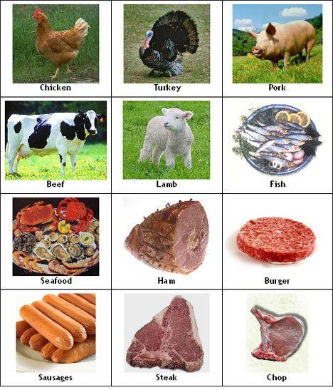 Мясо на английском картинки