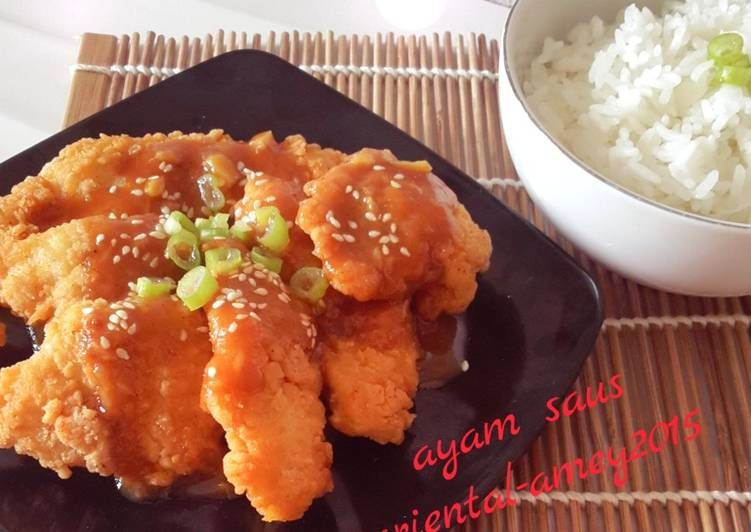 Resep Ayam Wijen Saus Oriental Oleh Amei Resep Resep Resep Masakan Indonesia Masakan