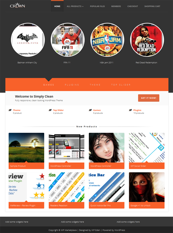 Crown Is A Wordpress Ecommerce Theme Specially Designed For Wordpress Marketplace Plug Wordpress Ecommerce Theme Website Template Design Best Website Templates