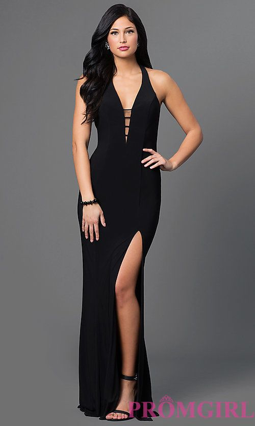 Image of Long Low Cut V-Neck Gown by Faviana 7540 Style  FA-7540 Front Image 4c5ce6e31