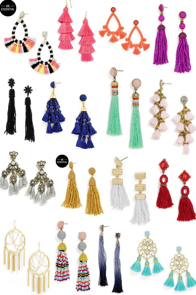 brand new 7503a 8fa29 If you are on the hunt for some tassel earrings, you came to the right  place. Today on the blog I am sharing 16 earrings that are all under  42!