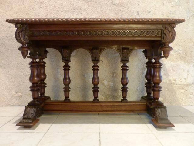 antique french furniture renaissance henri ii style table with balusters androuet du cerceau. Black Bedroom Furniture Sets. Home Design Ideas