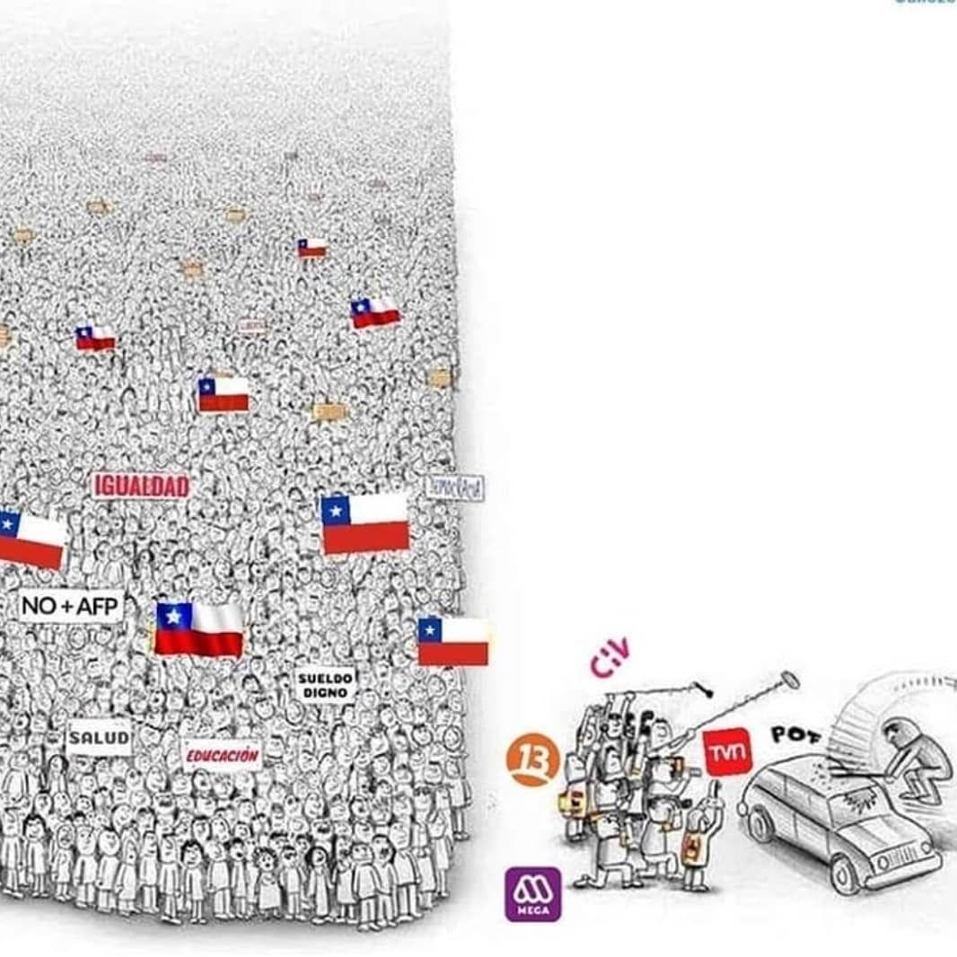 Prensa OPAL Chile on en 2020 | Arte de protesta, Manipulacion mediatica,  Bocetos artísticos