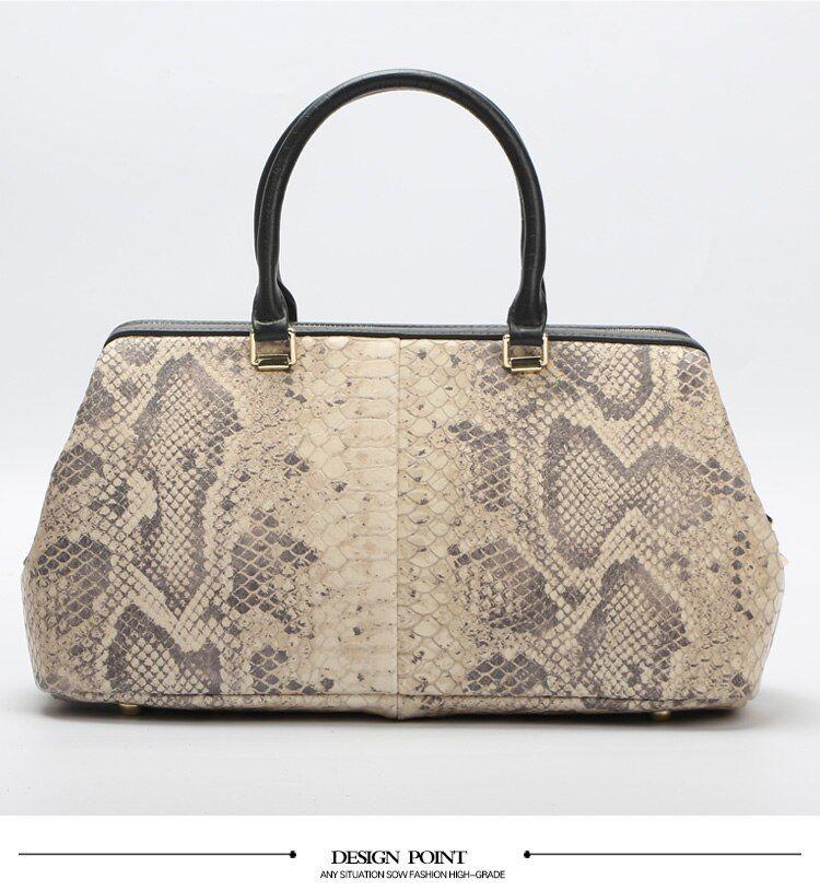 Python Pattern Luxury Doctor Women Handbags Designer Genuine Cow Leather Bag Female Bolsa Feminina Arrive