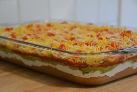 7 Layer Dip (2 cups refried beans, taco #7layerdip