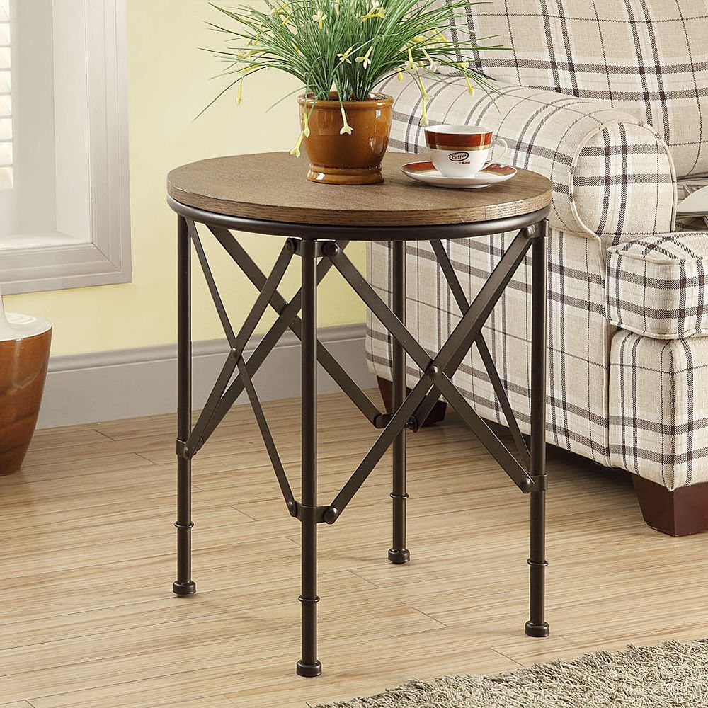 This luxurious bronze accent table features a spacious 20 inch diameter for easy ample · end tablesliving room furnituretable