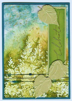 Batik Art card by Kris Dickinson