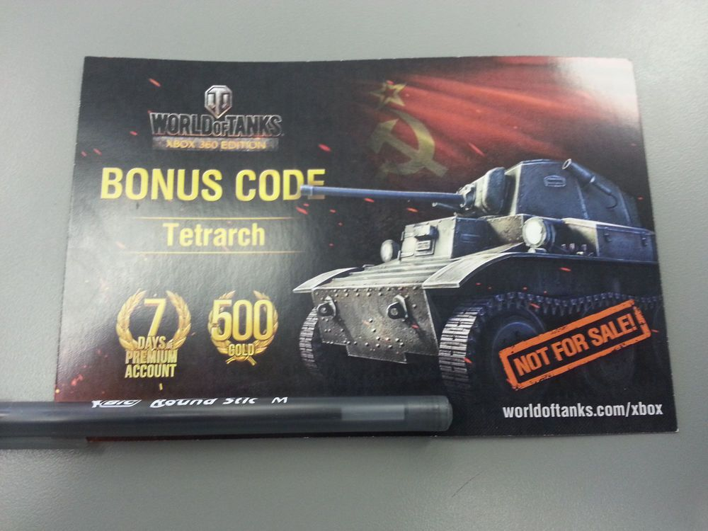 World of Tanks E3 2014 Tetrarch CODE - RARE EXCLUSIVE - Bonus 500