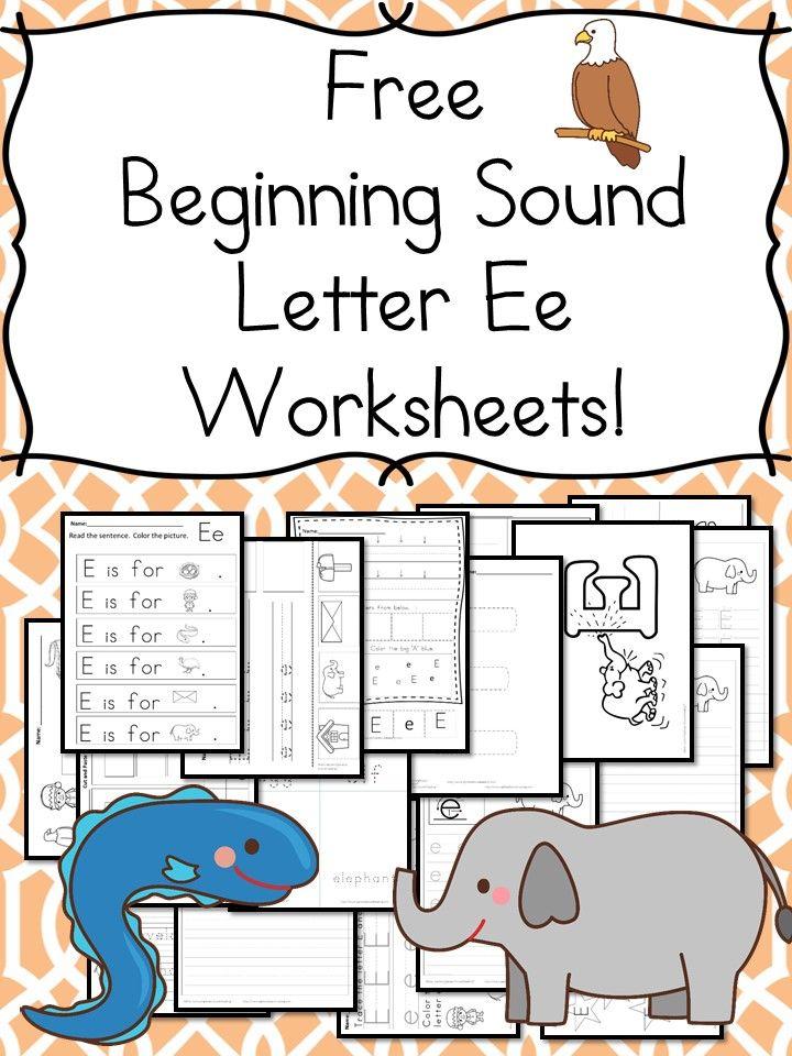 Printable Worksheets letter sound worksheets free : Beginning Sounds Letter E Worksheets | Worksheets, Kindergarten ...