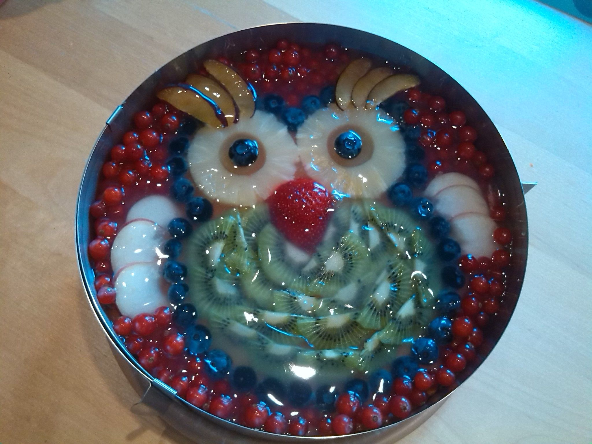 Eulenkuchen Obst Kuchen Fur Die Kindern Pinterest